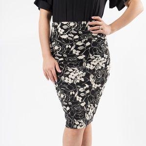 Pencil Skirt - B&W - XS
